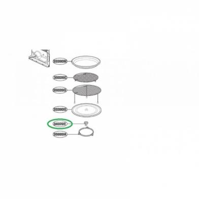 Куплер вращения тарелки микроволновой печи LG (3B72373C)