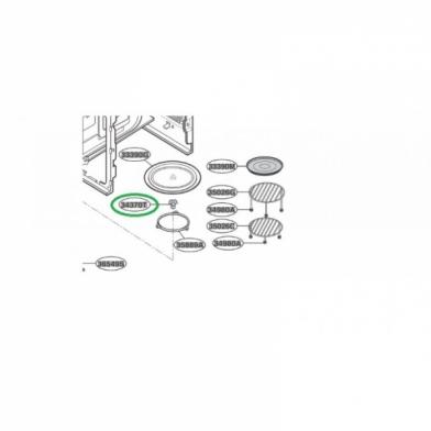Куплер вращения тарелки микроволновой печи LG (4370W1A006G)