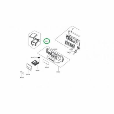 Бункер дозатора моющих средств стиральной машины Samsung (DC97-11422B)