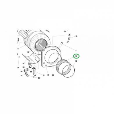 Манжета для стиральной машины Indesit (C00081747)