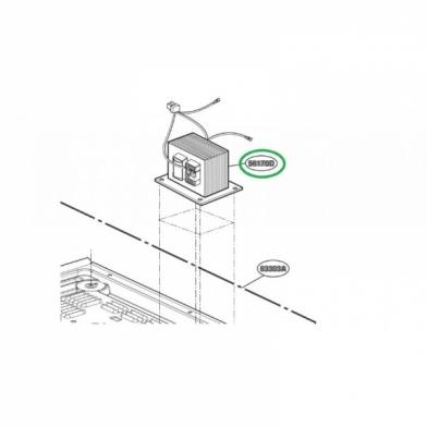 Трансформатор высоковольтный микроволновой печи LG (6170W1D093T)
