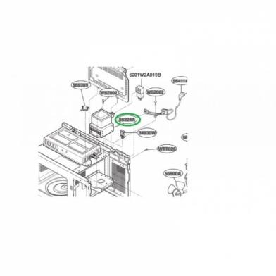Магнетрон микроволновой печи LG (6324W1A004B)