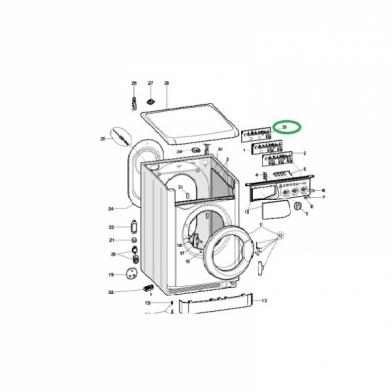 Модуль управления стиральной машины Indesit (C00280968)