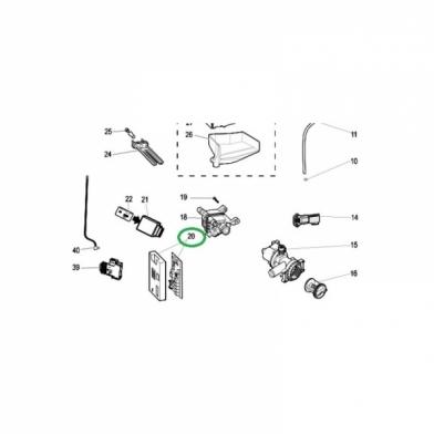 Модуль управления стиральной машины Indesit (C00283371)