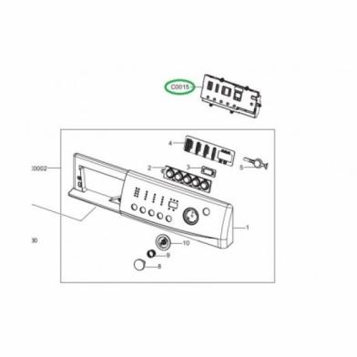 Модуль управления стиральной машины Samsung (DC92-00309D)