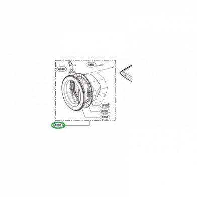 Люк стиральной машины LG (ADC72912401)