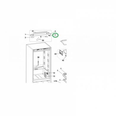 Петля для холодильника Indesit (C00098243)