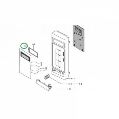 Сенсорная панель управления микроволновой печи Samsung (DE34-00385D)