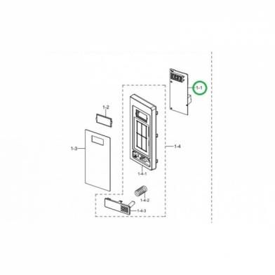 Модуль управления микроволновой печи Samsung (DE92-02893X)