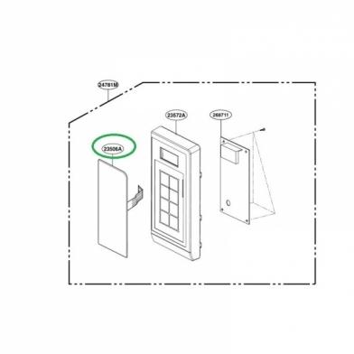 Сенсорная панель управления на микроволновку LG (MFM62297201)