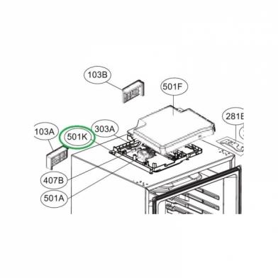 Модуль управления для холодильника LG (EBR71212501)