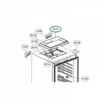 Модуль управления для холодильника LG (EBR76347601)
