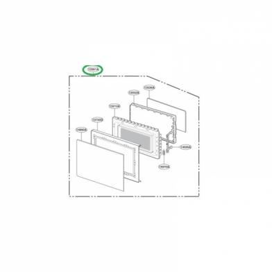 Дверь микроволновой печи LG (ADC32541001)