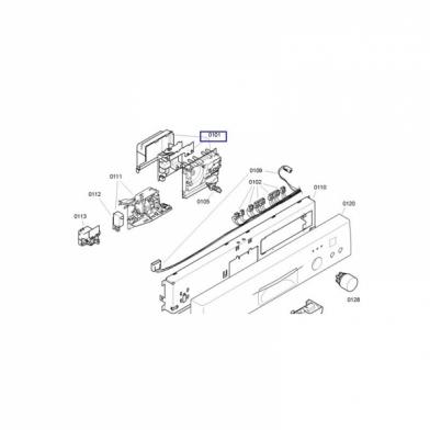 Модуль управления на посудомоечную машину машину BOSCH (00643608)