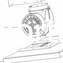 Двигатель кухонной каминной вытяжки LG DCE9601SU
