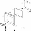 Стекло внутренее для духового шкафа Samsung NV75K3340RS DG64-00514A